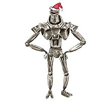 Christmas Cylon in a Santa Hat Photographic Print