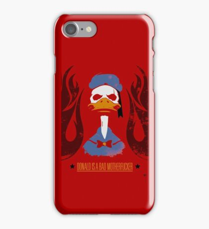 Donald Duck Bad Motherfucker iPhone Case/Skin