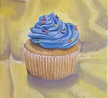 Vanilla Cupcake with Sprinkles Painting by Lagoldberg28