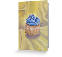 Vanilla Cupcake with Sprinkles Painting Greeting Card
