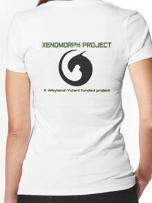 Xenomorph project Women's Fitted V-Neck T-Shirt