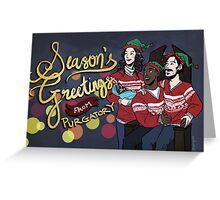 Season's Greetings from the Black Badge Division Greeting Card