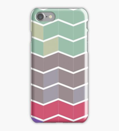 Pale Repeating Chevron  iPhone Case/Skin