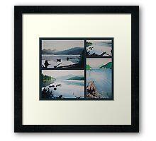 oakridge reservoir collage of watercolor paintings Framed Print