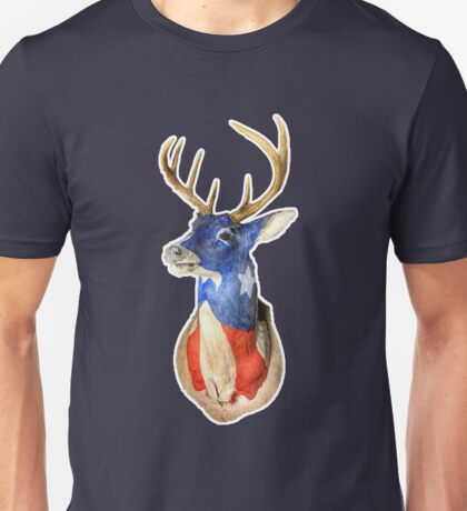 American Deer Head Red White and Blue Unisex T-Shirt