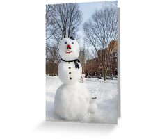 Snowbound Red Sox Fans Greeting Card