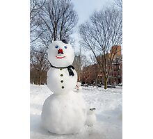 Snowbound Red Sox Fans Photographic Print