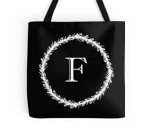 Monochrome Monogram F Tote Bag