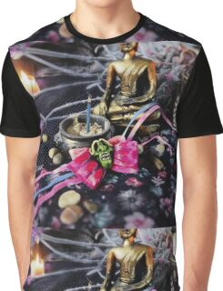 Hollow Yves Silk Maiden Dress Oni Mask Bow Graphic T-Shirt