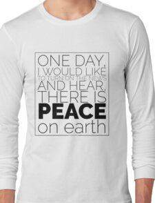Peace on Earth Black Design Long Sleeve T-Shirt