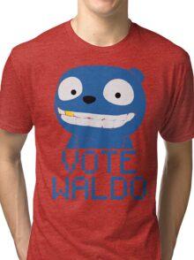Vote Waldo – Black Mirror Tri-blend T-Shirt
