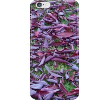 Scattered Plum Tree Leaves  iPhone Case/Skin