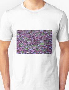 Scattered Plum Tree Leaves  T-Shirt
