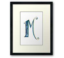 The Letter M Framed Print