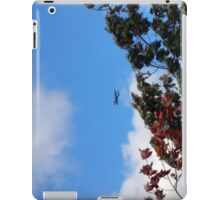As the season flies by ('Leaf'ing below a jet plane) iPad Case/Skin