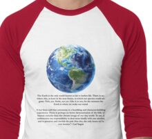 Piece of Pale Blue Dot Quote  Men's Baseball ¾ T-Shirt