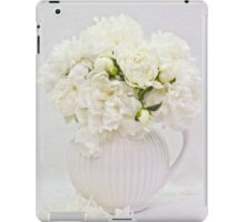 White Peonies In White Jug  iPad Case/Skin