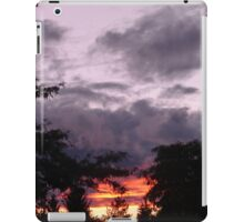 The sun was setting under the rain iPad Case/Skin