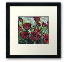 Roses In Bloom Framed Print
