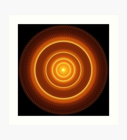 Golden Pulse Mandala Art Print