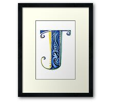The Letter J Framed Print