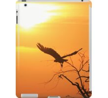 White-backed Vulture - Flying into the Sun. iPad Case/Skin