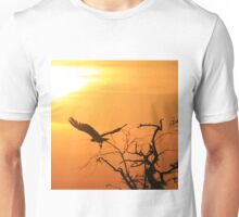 White-backed Vulture - Flying into the Sun. Unisex T-Shirt