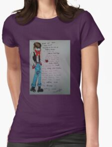 Public Notice Man Missing Womens Fitted T-Shirt