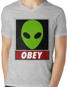 Alien Obey Mens V-Neck T-Shirt