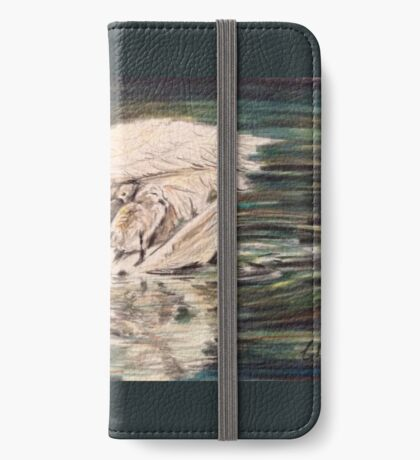 Swan mother and babies iPhone Wallet/Case/Skin