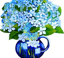 blue hydrangeas by marlene veronique holdsworth