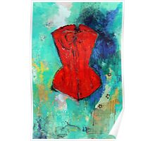 Fire Red Corset Poster
