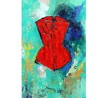 Fire Red Corset Photographic Print