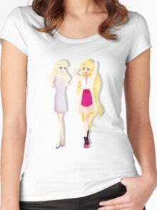 Princesses' Fabulous Hair Women's Fitted Scoop T-Shirt