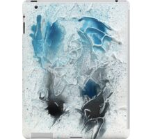 Blue and black abstract iPad Case/Skin