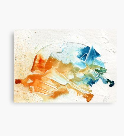 Orange and blue abstract  Canvas Print