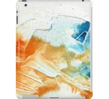 Orange and blue abstract  iPad Case/Skin