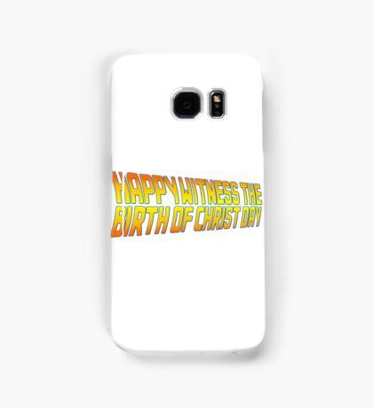 Happy Witness the Birth of Christ Day Logo Samsung Galaxy Case/Skin
