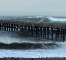 Ventura Ocean Wave Storm Pier Sticker