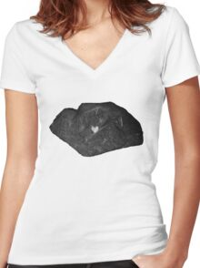 Tough Shell, Delicate Soul Women's Fitted V-Neck T-Shirt
