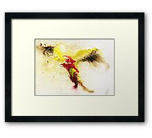 Yellow, brown and pink abstract  Framed Print