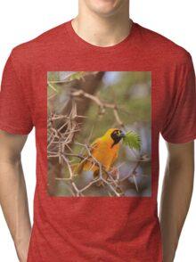 Golden Weaver - African Peace Symbol Tri-blend T-Shirt