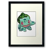 Bulbasaur Bud Framed Print