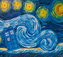 Starry Tardis Night by iamdeirdre