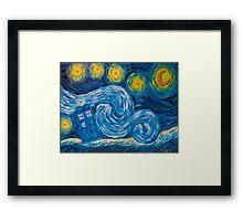 Starry Tardis Night Framed Print