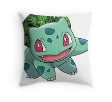 Bulbasaur Bud Throw Pillow