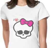 love for monster high Womens Fitted T-Shirt