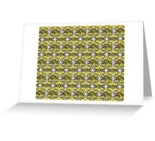 Autumn Sun rays #9, raindrops on apple pattern Greeting Card