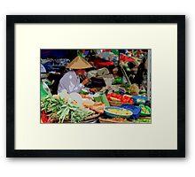 Siem Reap - Fresh food market Framed Print