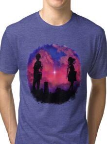 Anime sunset Tri-blend T-Shirt